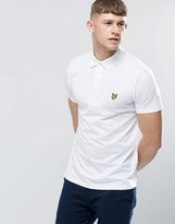 Lyle & Scott Polo Shirt With Woven Collar In White