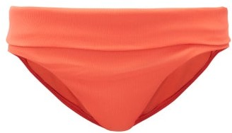Melissa Odabash Brussels Fold-over Low-rise Bikini Briefs - Red