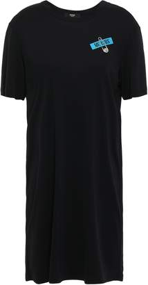 Versace Appliqued Stretch-jersey Mini Dress
