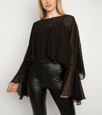 New Look Miss Attire Layered Chiffon Blouse