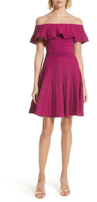 Ted Baker Dilpree Off-the-Shoulder Knit Skater Dress