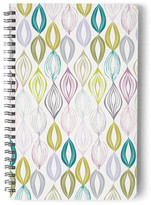 Minted Organic Leaves Self-Launch Notebook