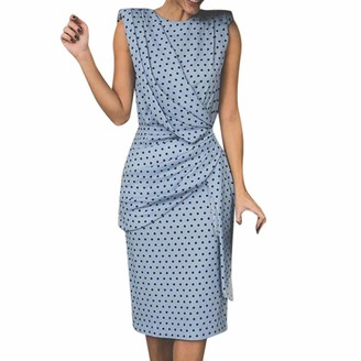 Kalorywee Dresses Twist Midi Pencil Dress in Polka Dot
