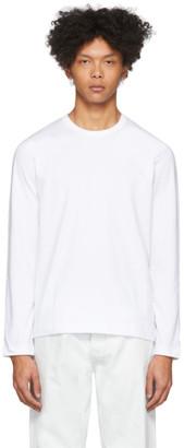 Comme des Garçons Shirt White Plain Long Sleeve T-Shirt