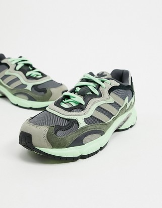 adidas Temper Run trainers in grey & core black