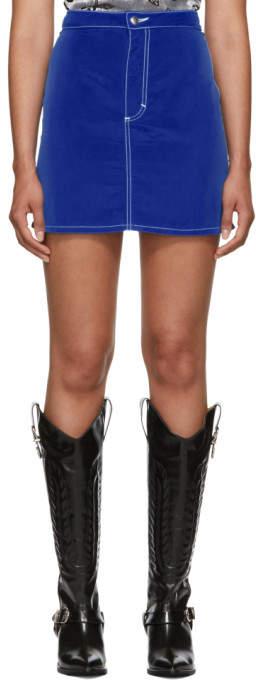 Eckhaus Latta Blue El Skirt