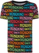 Moschino All Over Logo Print Swim T-shirt