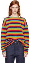 The Elder Statesman Multicolor Cashmere Sunset Stripe Sweater