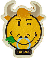 Anya Hindmarch Women's Taurus Smiley Sticker-YELLOW, NO COLOR
