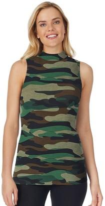 Cuddl Duds Women's Stretch Softwear Sleeveless Mockneck Tank