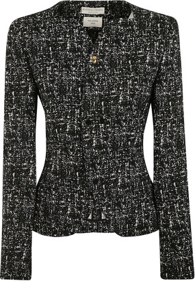 Bottega Veneta Compact Jacquard Tweed Jacket