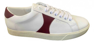 Celine Triomphe White Leather Trainers