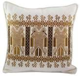 Two-headed Maya Eagle on Alabaster Cotton Cushion Cover, 'Kot, Divine Eagle'