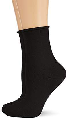 Hudson Women's Pack of 2 100 DEN Calf Socks - Black