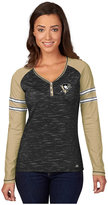 Majestic Women's Long-Sleeve Pittsburgh Penguins Pure Fury T-Shirt