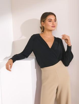 Ever New Sandra Silk Wrap Shirt