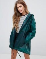 Hunter Clear PU Smock Long Raincoat