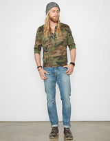 Denim & Supply Ralph Lauren Camo Slub Cotton Henley Shirt