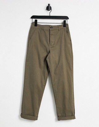 ASOS DESIGN relaxed skater fit chinos in light brown