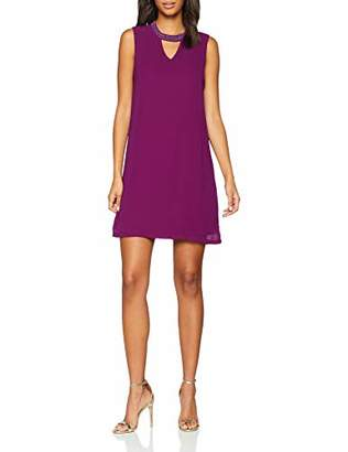 Only Women's Onlcadiz Sl Choker Dress WVN, Purple Plum Caspia, (Size: 38)