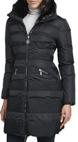 Moncler Charmielle Rabbit-Trim Coat
