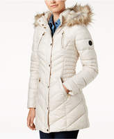 Laundry by Shelli Segal Faux-Fur-Trim Fleece-Lined Puffer Coat