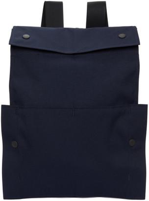 Issey Miyake Navy Flat Bag Backpack