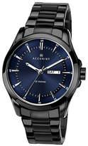 Accurist Men's Black Ionic Plated Bracelet Watch