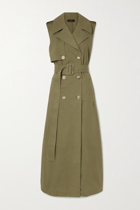 Amiri Belted Cotton Vest - Army green