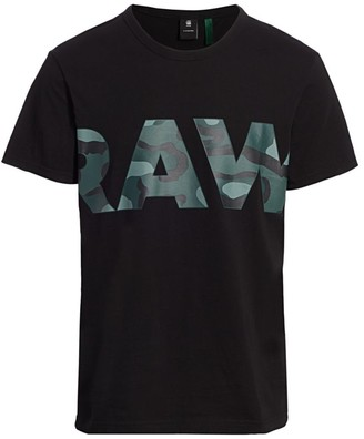 G Star Raw Camo Logo Tee