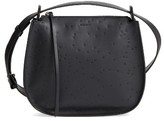 AllSaints Mini Echo Star Embossed Calfskin Shoulder Bag - Black