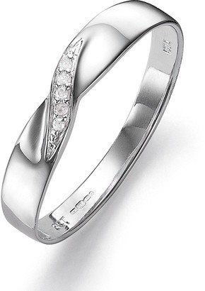 Love Gold 9 Carat White Gold Diamond Set 3mm Wedding Band