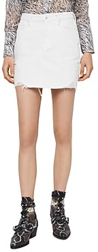 AllSaints Betty Distressed Denim Skirt