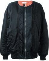 Facetasm long length bomber jacket