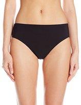 Christina Women's Solid Semi High Waist Bikini Bottom