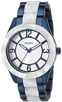 GUESS Women's U0074L3 Iconic Blue & White Mid-Size Sport Watch