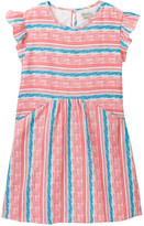 Lucky Brand Striped Pocket Dress with Bloomer (Toddler Girls)
