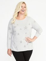 Old Navy Classic Plus-Size Star-Printed Sweater