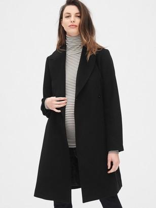 Gap Maternity Wool-Blend Wrap Coat