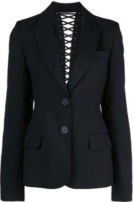 Vera Wang Lace Up Back Detail Blazer