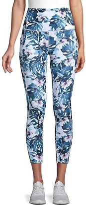 Gaiam OM Floral Active Crop Leggings