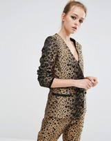 Sister Jane Blazer In Heart Leopard Print Co-Ord