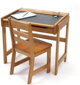 Lipper 554P Child's Chalkboard Desk and Chair Set, Pecan