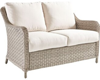 Darby Home Co Keever Loveseat with Cushions Cushion Color: Sand