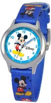 Disney Mickey Mouse Kid's Time Teacher Watch- Blue Printed Strap