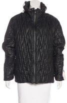 Giuliana Teso Rabbit Fur-Trimmed Puffer Jacket