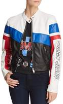 Tommy Jeans Color-Block Faux Leather Racing Biker Jacket - 100% Exclusive