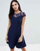 Paper Dolls Lace Detail Fluted Swing Dress