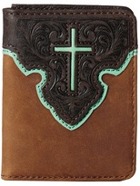 M&F Western - Contrast Cross Underlay Bi-Fold Flip Case Wallet Handbags