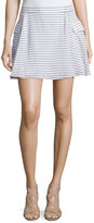 BCBGeneration Striped Cotton Mini Skirt W/Pockets, Black/White